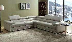 Cape Modern 3 Piece Sectional Sofa in Light Grey