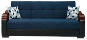 Bethlehem Convertible Living Room Set in Navy