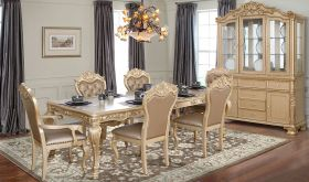 Carmel Traditional Dining Room Set in Golden Ivory