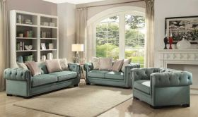 Carmel Traditional Living Room Set in Light Green