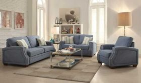 Catalina Traditional Living Room Set in Light Blue