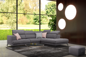 Charles Modern Right Sectional Sofa in Dark Grey