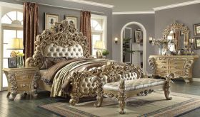 Chino Traditional Bedroom Set in Pickle Frost & Antique Silver