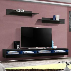 "Chusetts Modern Wall Mounted Floating 126"" TV Stand"