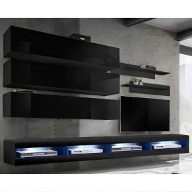 Clanton Wall Mounted Floating Modern Entertainment Center (Size J1)