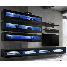 Clanton Wall Mounted Floating Modern Entertainment Center (Size J2)