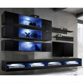 Clanton Wall Mounted Floating Modern Entertainment Center (Size J3)