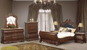 Shiloh Traditional Bedroom Set in Brown