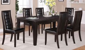 Cod Contemporary Dining Room Set in Dark Brown