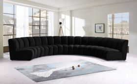Colmar Contemporary Modular Sectional Sofa in Black