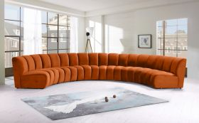 Colmar Contemporary Modular Sectional Sofa in Cognac