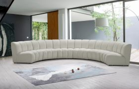 Colmar Contemporary Modular Sectional Sofa in Cream