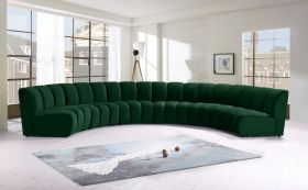 Colmar Contemporary Modular Sectional Sofa in Green