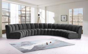 Colmar Contemporary Modular Sectional Sofa in Grey