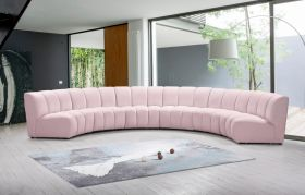 Colmar Contemporary Modular Sectional Sofa in Pink