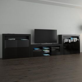 Conway Modern Wall Unit Entertainment Center