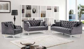 Conwy Contemporary Living Room Set in Gray