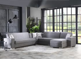 Corvallis Modular Sectional Sofa in Diego Gray