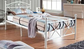 Cottage Modern Twin Bed in White