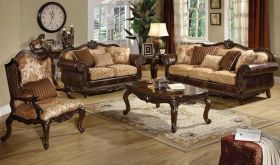 Crest Traditional Living Room Set in Cherry