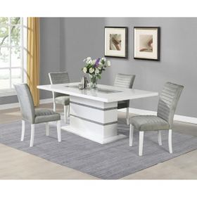 St Marys D1903DT & D1903DC Dining Set in White/Grey
