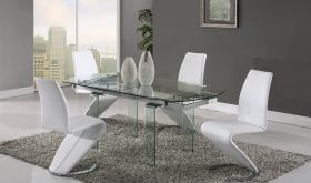 D2160 Dining Room Set in Clear & White