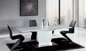 D2279 Dining Room Set in Black & White High Gloss