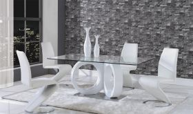 D9002 Dining Room Set in White