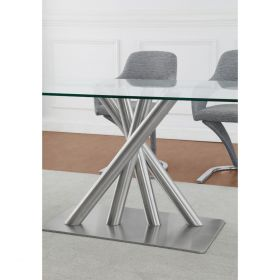 Angola D9032DT & D9002DC Dining Set in Grey