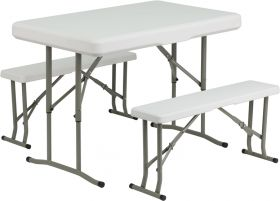 Plastic Folding Table and Benches [DAD-YCZ-103-GG]