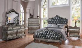 Dales Traditional Bedroom Set in Antique Platinum
