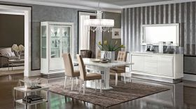 Dama Bianca Dining Room Set in White High Gloss