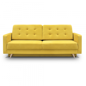 Decorah Mid-Century Modern Tufted Futon Sofa