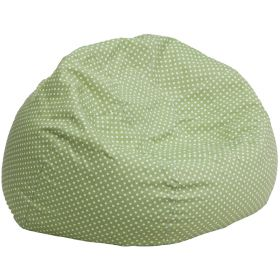 Oversized Green Dot Bean Bag Chair [DG-BEAN-LARGE-DOT-GRN-GG]
