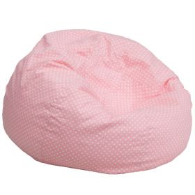 Oversized Light Pink Dot Bean Bag Chair [DG-BEAN-LARGE-DOT-PK-GG]