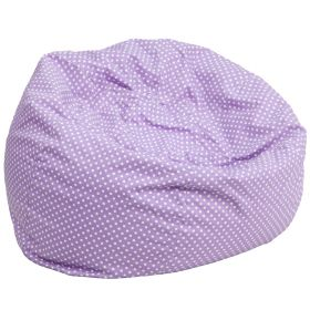 Oversized Lavender Dot Bean Bag Chair [DG-BEAN-LARGE-DOT-PUR-GG]