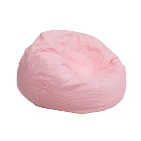 Small Light Pink Dot Kids Bean Bag Chair [DG-BEAN-SMALL-DOT-PK-GG]