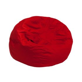 Small Solid Red Kids Bean Bag Chair [DG-BEAN-SMALL-SOLID-RED-GG]