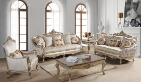 Diana Traditional Living Room Set in Champagne