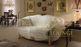 Donatello Contemporary Living Room Set in Gold & Ivory