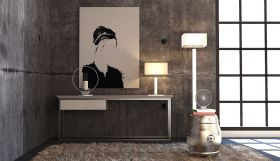 Donostia Modern Console Table in Old Silver