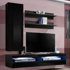 Dothan Wall Mounted Floating Modern Entertainment Center (Size H1)
