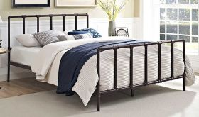 Dower Modern Bed in Brown