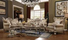 Dunsmuir Traditional Living Room Set in Champagne