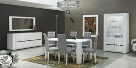ESF Elegance Dining Room Set in White