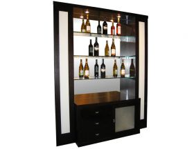 Haute Modern Bar Corner in Wenge