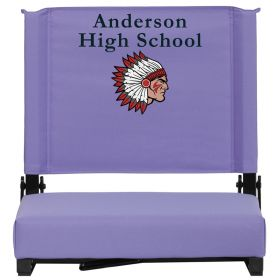 Embroidered Game Day Seats by Flash with Ultra-Padded Seat in Purple [XU-STA-PUR-EMB-GG]