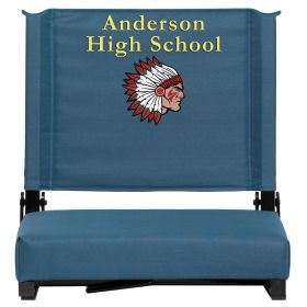 Embroidered Game Day Seats by Flash with Ultra-Padded Seat in Teal [XU-STA-GN-EMB-GG]