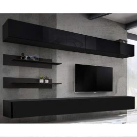 Enterprise Wall Mounted Floating Modern Entertainment Center (Size I1)