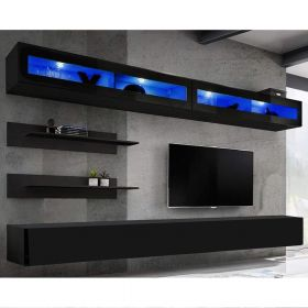Enterprise Wall Mounted Floating Modern Entertainment Center (Size I2)